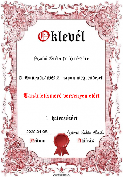 oklevel_tanarfelismero
